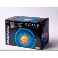 Donic Coach P40+ - Cell Free κουτί με 120 κίτρινα μπαλάκια