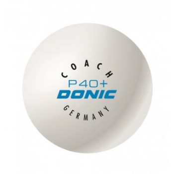 Donic Coach P40+ - Cell Free κουτί με 6 άσπρα μπαλάκια