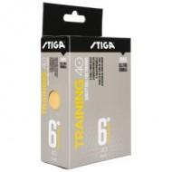 STIGA Training 40+ κουτί με έξη κίτρινα μπαλάκια
