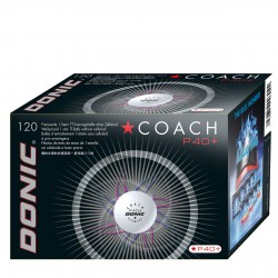Donic Coach P40+* Cell Free κουτί με 120 άσπρα μπαλάκια