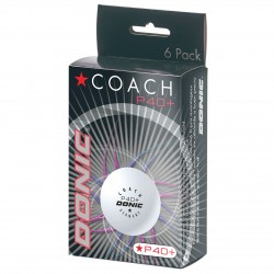 Donic Coach P40+* Cell Free κουτάκι με 6 άσπρα μπαλάκια