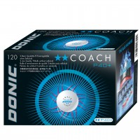 Donic Coach P40+ ** Cell Free κουτί με 120 άσπρα μπαλάκια  δύο αστέρων