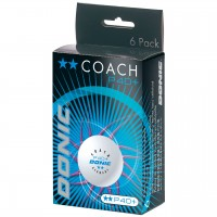 Donic Coach P40+**  κουτί με 6 άσπρα μπαλάκια δύο αστέρων
