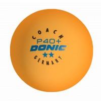 Donic Coach P40+** Cell Free κουτάκι με 6 κίτρινα μπαλάκια
