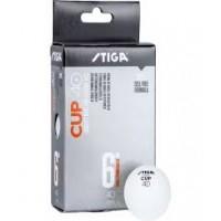 STIGA Cup 40+ κουτί με έξη άσπρα μπαλάκια